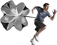 Running Speed Training Resistance Parachute Bioamy 140cm Running Sprint Chute Power Trainer for Running, Footb