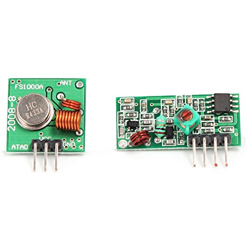 Aukru 433 MHz Funk- Sende und Empfänger Modul Superregeneration Wireless Transmitter-Modul Einbrecher Alarm 433M receiver module Burglar Alarm für Arduino Raspberry