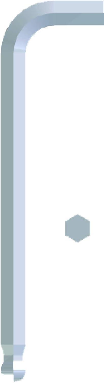 Pack of 10 Eklind Tool Eklind 18312 3//16 Bright-Ball-Hex-L Key,