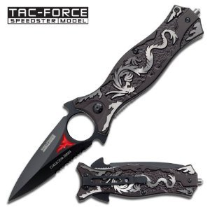 Tac Force TF-707GY Assisted Opening Folding Knife 4.5-Inch Closed, Outdoor Stuffs