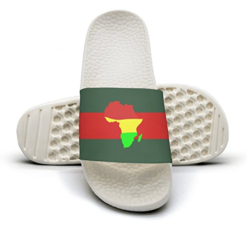 Customizable Africa Man Red And Green Stripe Flat Slipper Sandals Summer Sandals Slides by Zhangyuyu