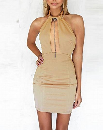 Halter s Bodycon Hollow Out Coolred As1 Sexy Women Dress Backless A7wqx6Ot
