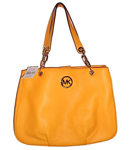 Price comparison product image Michael Kors Fulton Chain Large Tote Vintage Yellow Leather