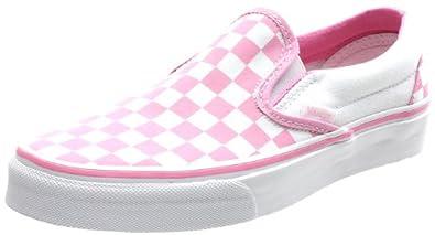 2b85beb90a77 Vans Classic Slip On (Checkerboard) Prism Pink True White Shoe EYEARC (UK8