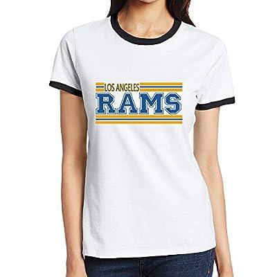 Custom Women's Cool Two-toned Shirt Los Angeles LA RAMS Black