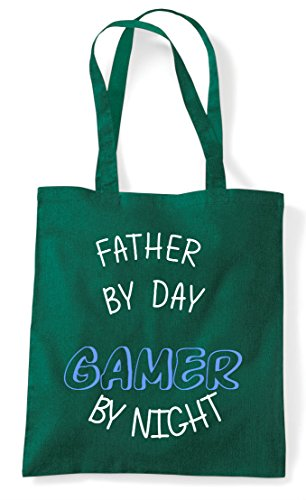 Green By Night Dark Gaming Gamer Father Shopper Statement Tote Personalised Day Bag P4RZwx
