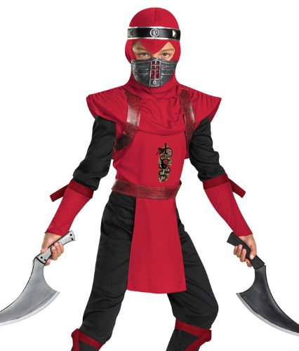 Shadow Ninjas Night Fury Red Viper Ninja Deluxe Boys Costume, 7-8