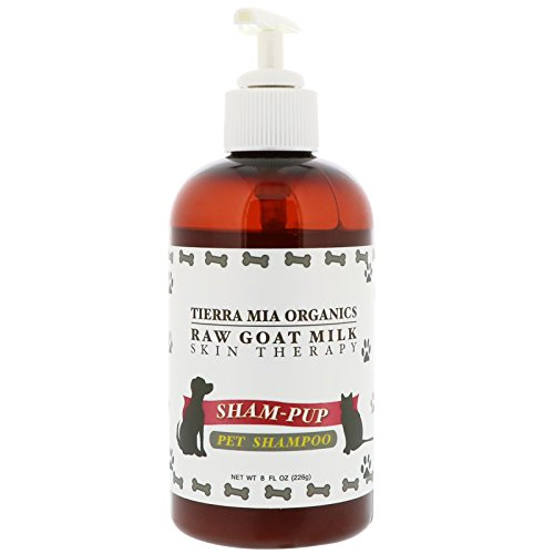 Tierra Mia Organics Raw Goat Milk Skin Therapy Sham-Pup Pet Shampoo 8 fl oz 226 (Dog Sham)