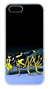 Best Diy 3D Bee Polycarbonate Plastic iPhone 4/4s mBuVxu8M4FI and iPhone 5 case cover White