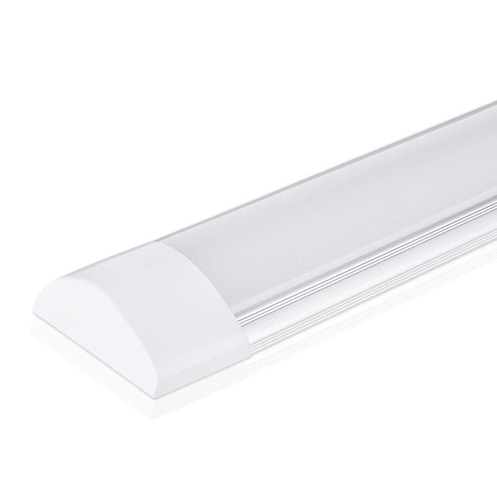 4ft LED Batten Light, Ceiling Tube Light, 3200K, 230V, 40W, 120LM/W, 130 °Beam Angle, Ceiling Light for Office, Living Room, Bathroom, Kitchen, Garage, Warehouse (Warm White, 40W) [Energy Class A++] PingoGou