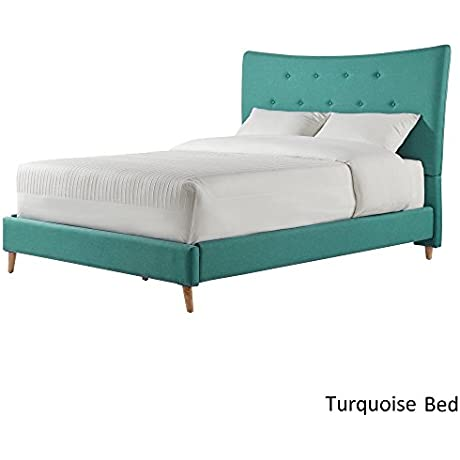 INSPIRE Q Azura Button Tufted Linen Fabric Bed By Modern