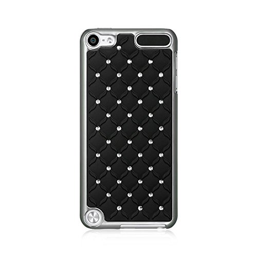 Dream Wireless Chrome Case for iPod touch 5 (Studded Diamond Black) (Chrome Case Ipod Diamond For 5)