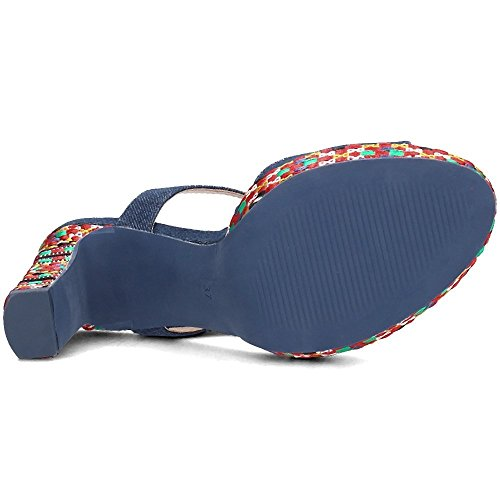 Desigual Schuhe - Shoes_Marilyn Ethnic Denim 18SSSD02 Kollektion 2018