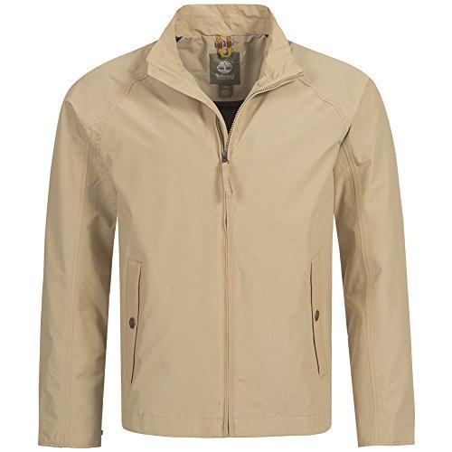 (Timberland Men's Mount Clay Waterproof Bomber Jacket (Small, Beige))