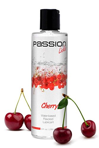 Passion Lubes Passion Licks Cherry Water Based Flavored Lube, 8 Ounce