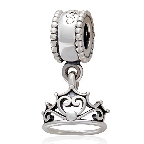 (Xuthus Charms Ariels Crown Headdress Charm 925 Sterling Silver Girl Graduation Gifts Beads for European Bracelet Jewelry)