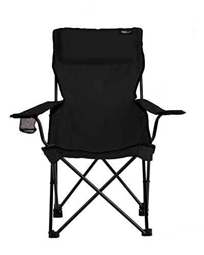 TravelChair Classic Bubba Chair, Comfortable Large Folding Camping Chair, Black ()