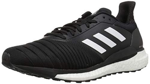 (adidas Men's Solar Glide Running Shoe, White/Black, 10 M US)