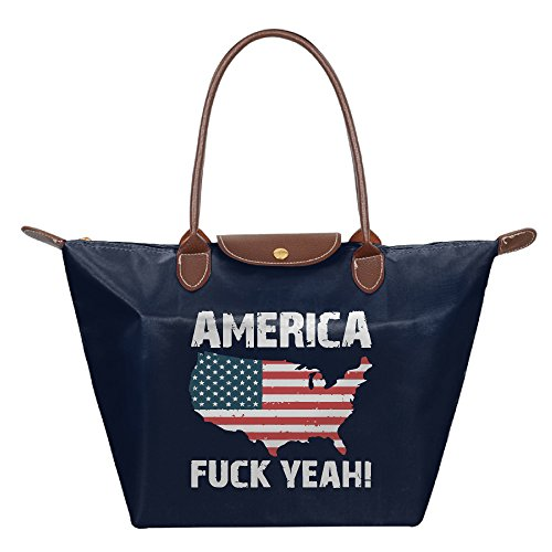 america-fuck-yeah-foldable-large-tote-bags-shopping-handbags-navy