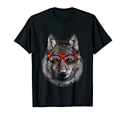 T-Shirt, Wolf in Retro Sunglass Frame, Wolves