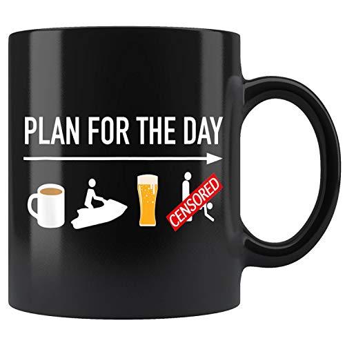 Coffee Ride Jet Ski Beer Mug Coffee Mug 11oz Gift Tea Cups 15oz (Jet Ski Mug)