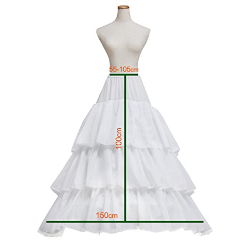 Bianco Matrimonio Sposa Cerchi Bianco Crinolina Sottoveste 3 Da Cosplayitem Abito Sottogonna aWnqZxWwO
