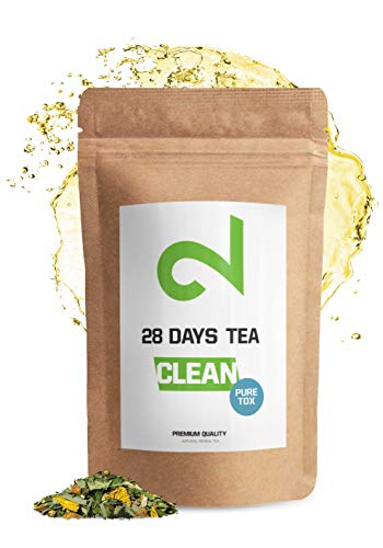 DUAL 28 Days Detox Tea - Te desintoxicante | Para Perdida de Peso |Te Adelgazante y Purificador| Infusion de Dieta Para Perdida de Grasa|Quemagrasa Natural|Te de hojas sueltas|Hecho en Alemania| 85g