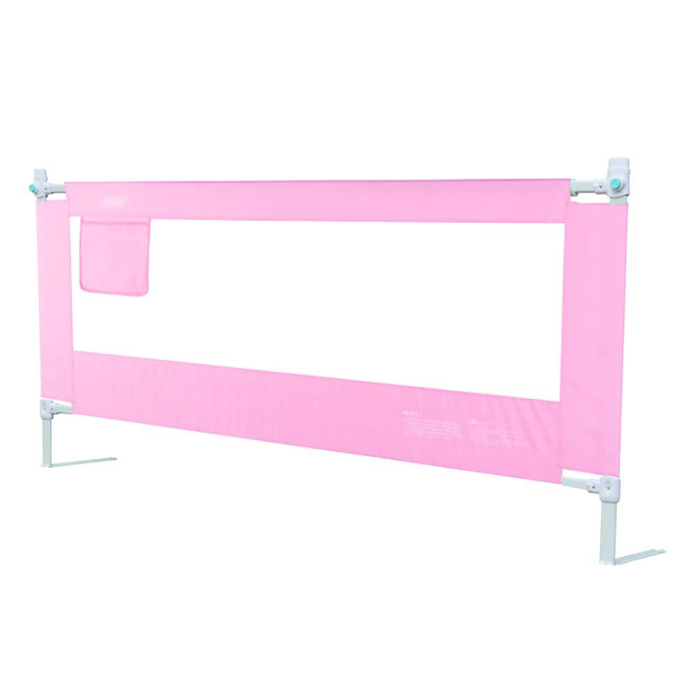 ベッドフェンス 持ち上がるベッドガードレール、ポータブルアンチロールオーバーガードレール、安全落下防止、8段調整、ピンク (サイズ さいず : 200cm) 200cm  B07MMRQWX2