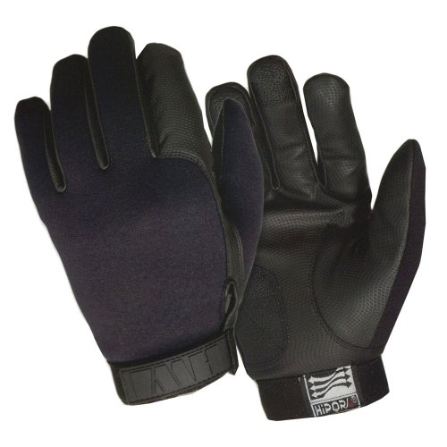 ACK, LLC HWI Gear Lined Neoprene Duty Glove, Medium, Black Black Lined Neoprene Gloves
