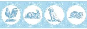 GMM-Cenefa etiqueta mascotas pintado nborten en color azul claro, 3x 5m
