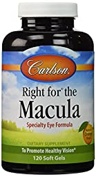 Carlson Labs Right for The Macula To Promote Healthy Vision, 120 Softgels