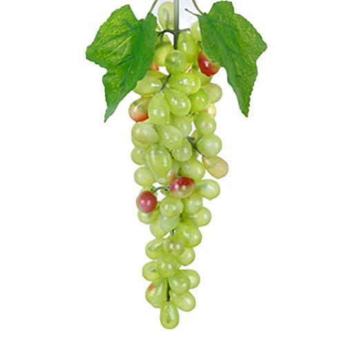 Artificial Fruits - Plastic Artificial Grapes Lifelike Flowers Fake Decorative Fruit Food Simulation Vegetables Home - Decoration Vegetables Lifelike Wood Basket Decor Fruits Walls Mini T from MeetCraig