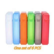 KSB Group 3.5 Inches IDE/SATA HDD Hard Drive Protection Storage Box Cas (6 PCS)