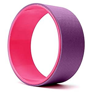 FEGSY-Yoga-Wheel-for-Women-and-Men-with-Soft-Thick-Cushion-for-Stretching-Hold-Poses-and-Flexibility-125-Inch