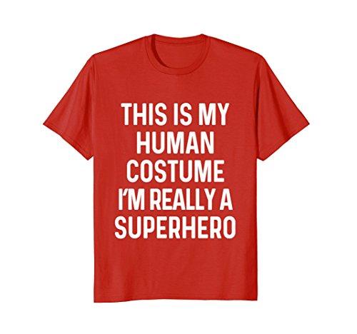 Mens Funny Superhero Costume Shirt Halloween Kids Adult Men Women 2XL (Super Costumes Ideas)