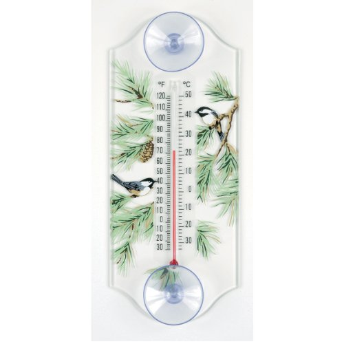Aspects 116 Classic Style Chickadee in Pine Window Thermometer (Thermometer Window)