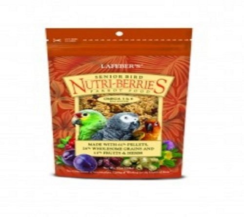 41EWV5OEubL - LAFEBER'S Senior Bird Nutri-Berries for Parrots 10oz