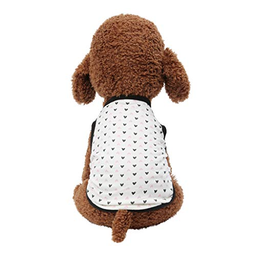 Adorable Dog Dress,Fashion Pet Spring And Summer Breathable Love Print Vest Dog Cat Thin Clothing,Dog Costumes