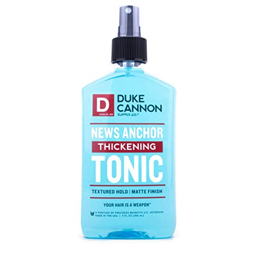 Duke Cannon News Anchor Thickening Tonic for Men, 9 fl. oz. | Matte Finish | Textured Hold