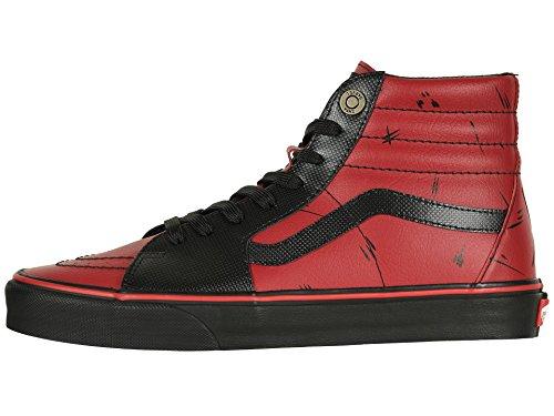 Vans Unisex X Marvel SK8-Hi Skate Shoes (11 Women / 9.5 Men M US, Deadpool Black) by Vans (Image #5)
