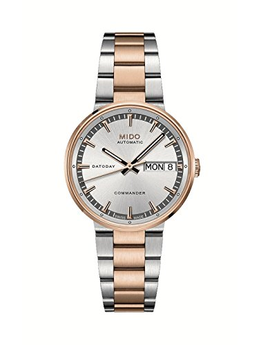 Mido Commander II Silver Rose Gold Automatic Analog Women's Watch M014.430.22.031.00
