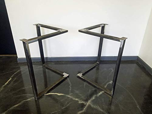 Metal Table Legs, Triangular Style - Any Size and Color