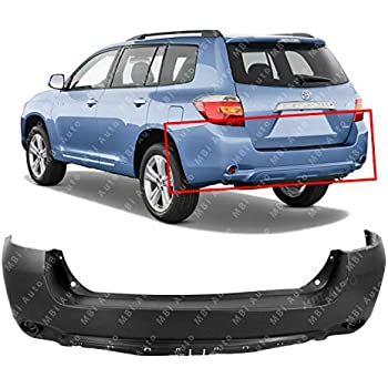 New TO1115100 Rear Lower Bumper Cover for Toyota Highlander 2008-2010