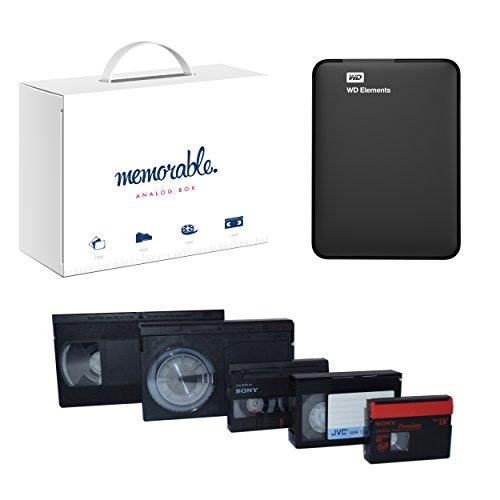 Memorable Video Transfer Service (VHS, 8mm, Hi-8, MiniDV) to 1TB External Hard Drive WD USB 3.0-4 Tapes