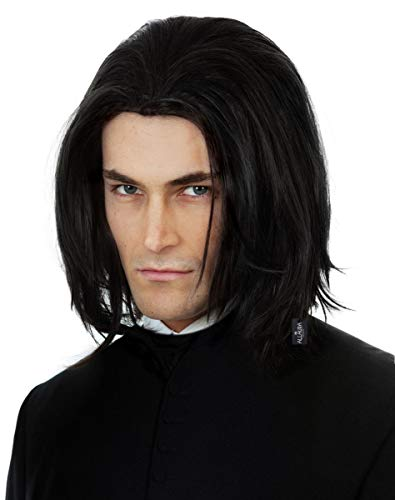 - Dark Professor Wizard Costume Wig Long Black Mens Wigs Michael Jackson Vega Adults Kids