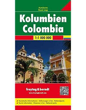 Colombia Road Map - 1:1,000,000 (English, Spanish, French, Italian and