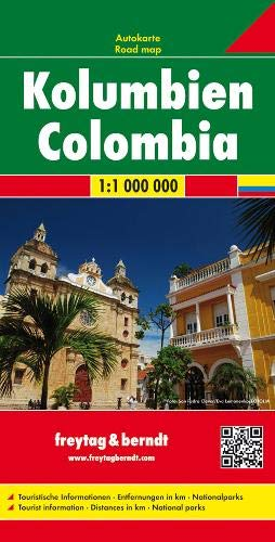 Colombia Road Map - 1:1,000,000 (English, Spanish, French, Italian and German Edition)