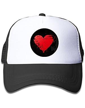 Full Moon Graffiti Watercolor Kids AdjustableTrucker Visor Cap Infant Trucker Hat