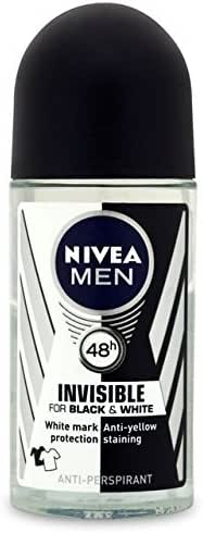New Nivea for Men Invisible for Black White Power Deodorant Roll-on 50ml
