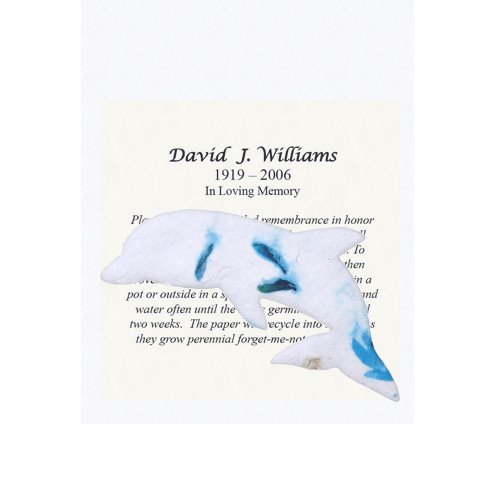 Plantable Seed Paper Shapes With Personalized Memorial Inserts (100 Count) (Dolphins)